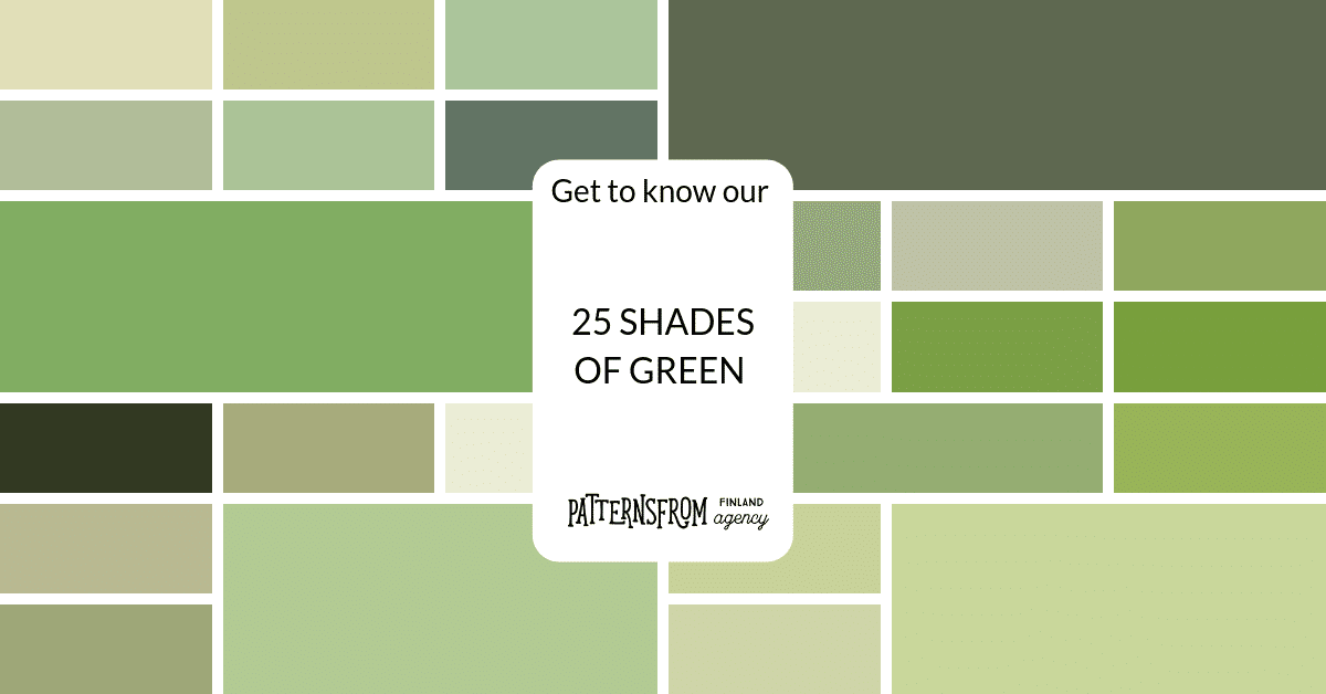 25 Shades Of Green Picked In The Spring Time Patternsfrom Agency